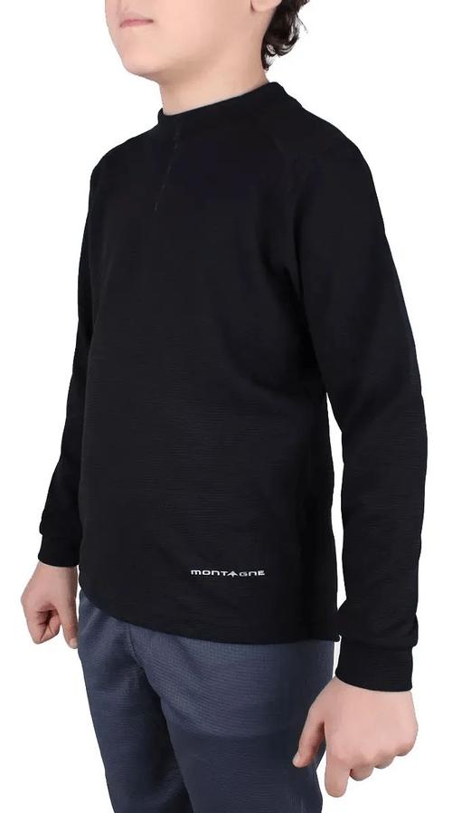 Camiseta Térmica Montagne Flynn Niños Negro