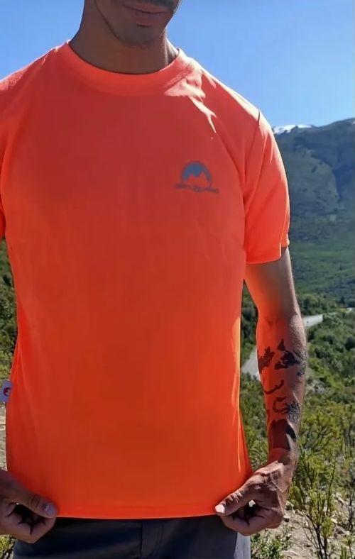 Remera Estilo Alpino Lite Hombre Naranja