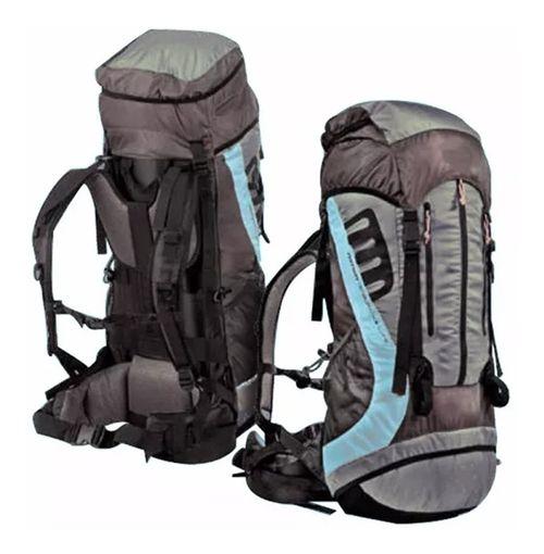 Mochila Waterdog Messner 60 Lts Negro/Verde